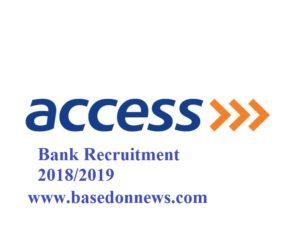 access bank recruitment 2018/2019