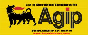 agip scholarship date and venue