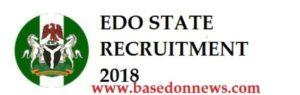 edo state commission recruitment 2018