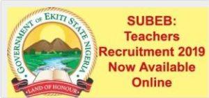 Ekiti state teachers recruitment